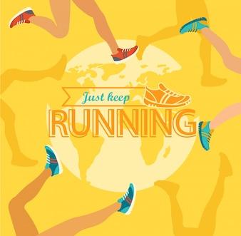 Summer running marathon.