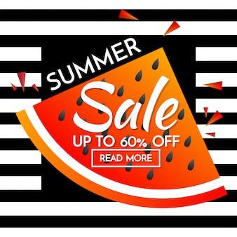 Summer Sale template banner Vector background