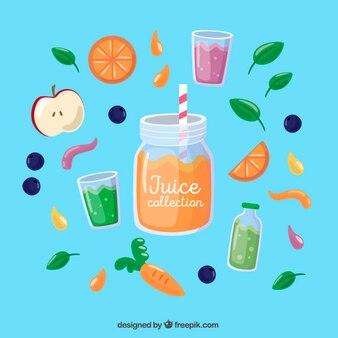 Sumo de laranja com frutas deliciosas