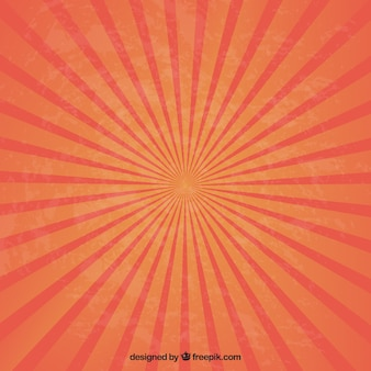 Sunburst em tons de vermelho e laranja