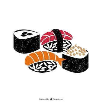 Sushi food vector
