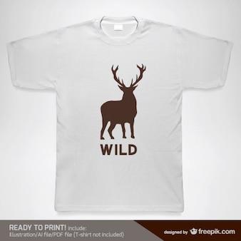 T-shirt do vetor modelo de design selvagem