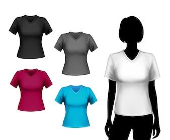 T-shirts conjunto feminino