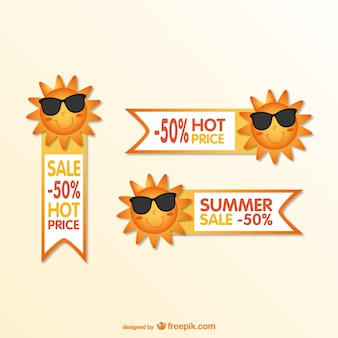 Tag da venda do verão dos desenhos animados
