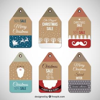 Tag das vendas de Natal Colecção
