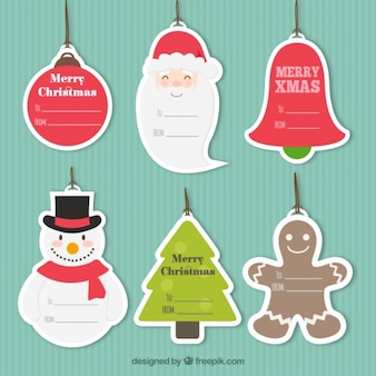Tag do Natal Coleção