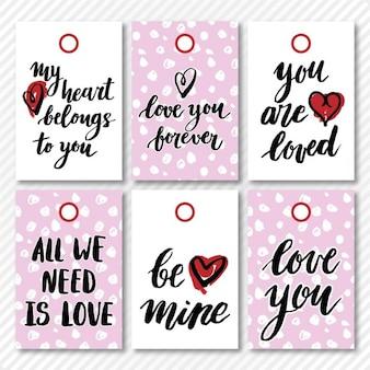 Tags de St Valentines