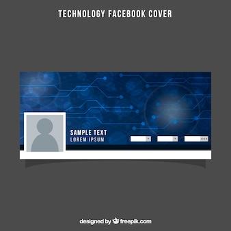 Tampa azul do Facebook com circuito