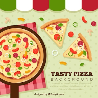Tasty pizza background