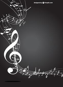 Tecla de música branco