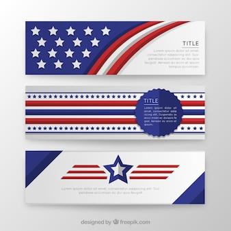 Template bandeiras americanas