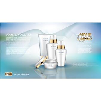 Template cosméticos folheto