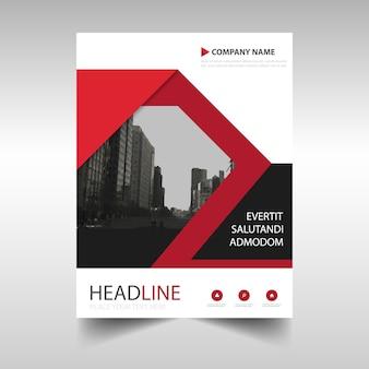 Template criativo Red capa do livro relatório anual