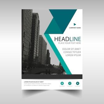 Template criativo verde capa do livro relatório anual