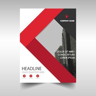 Template criativo vermelho capa do livro relatório anual