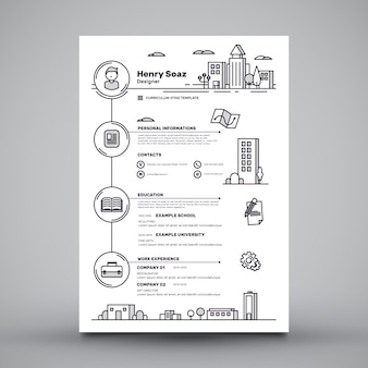 Template cv criativo