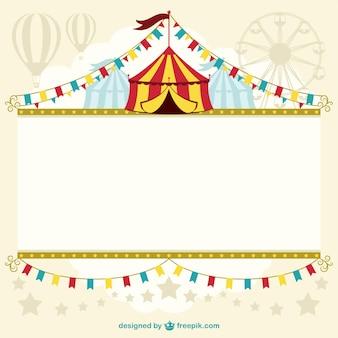 Template design tenda de circo
