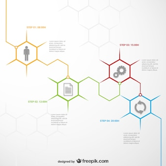 Template infográfico Honeycomb