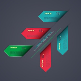 template infográfico Multicolor