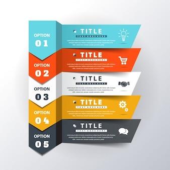 Template infográfico opcional moderna