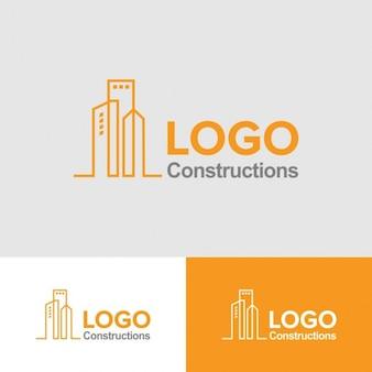 Template Logo Construção