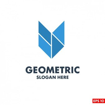 Template Logo geométrica