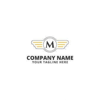 Template Logo Moto Velocidade