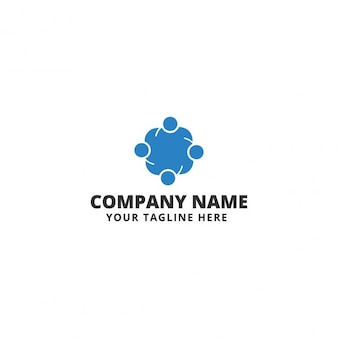 Template Logo Social Team