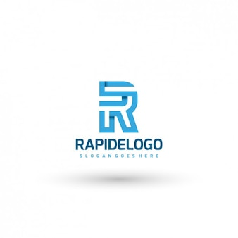 Template logotipo azul