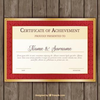 Template luxo de certificado de graduação