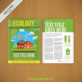 Template revista Eco-frendly