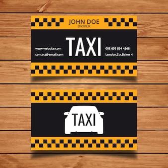Template táxi cartão de visita
