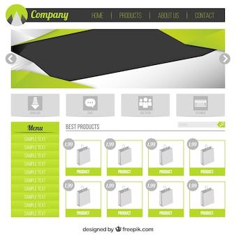 Template verde web e-commerce