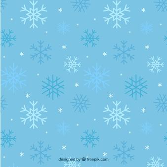 Teste padrão azul dos flocos de neve