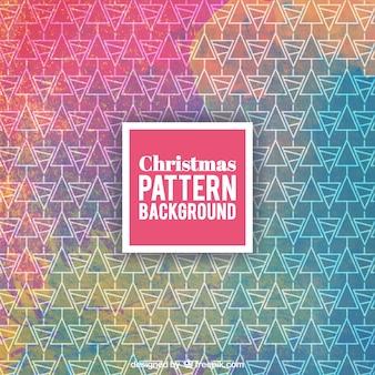 Teste padrão colorido do Natal no estilo da aguarela