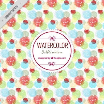 Teste padrão da bolha Watercolor