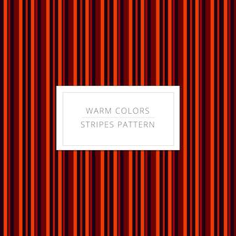 Teste padrão das listras das cores quentes