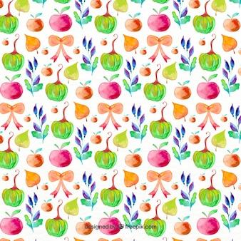 Teste padrão decorativo com elementos coloridos