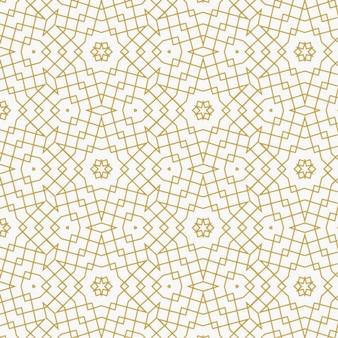 Teste padrão do ouro geométrico abstrato feito com linhas