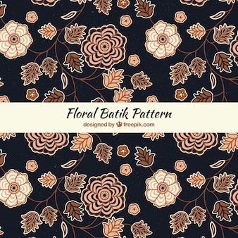 Teste padrão floral elegante batik
