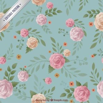 Teste padrão floral no estilo do vintage