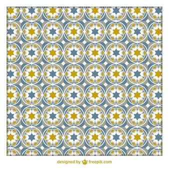 Teste padrão geométrico árabe Tiles
