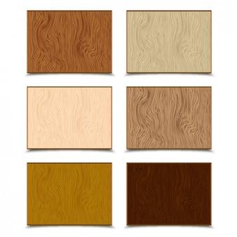 Texturas de madeira pacote