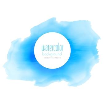 Tinta azul aquarela vetor mancha fundo