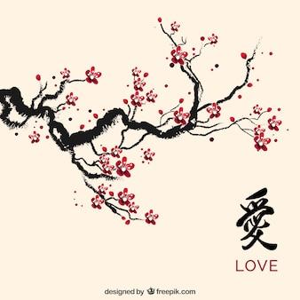 Tinta da flor de cerejeira