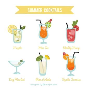 Tipo de bebidas de verão