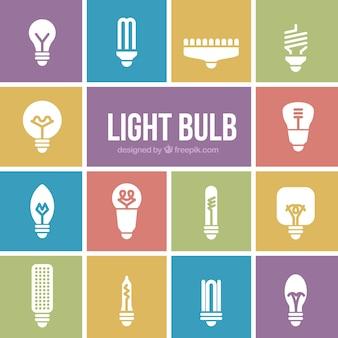 Tipos de pacote de lâmpadas