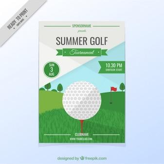 Torneio de golfe panfleto