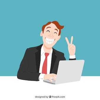 Trabalhador feliz