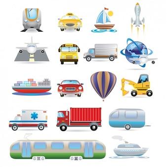 Transporte Icon Set